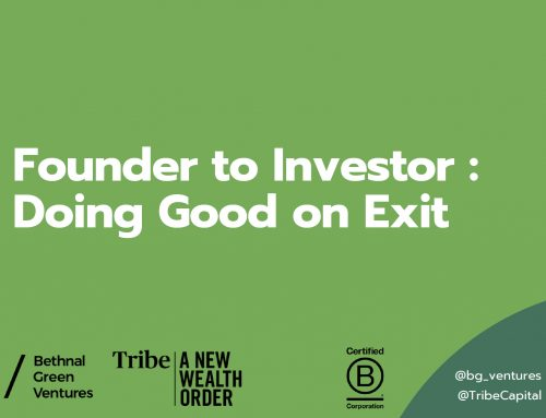Founder to Investor: Doing Good on Exit