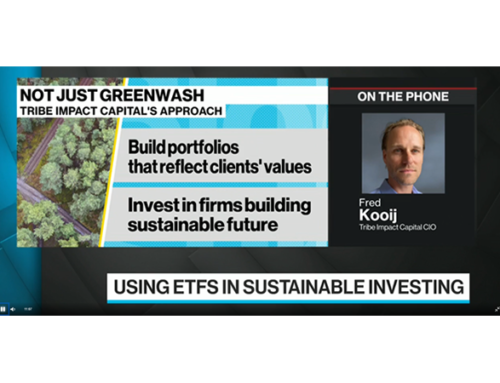Bloomberg TV – coronavirus and sustainable investing
