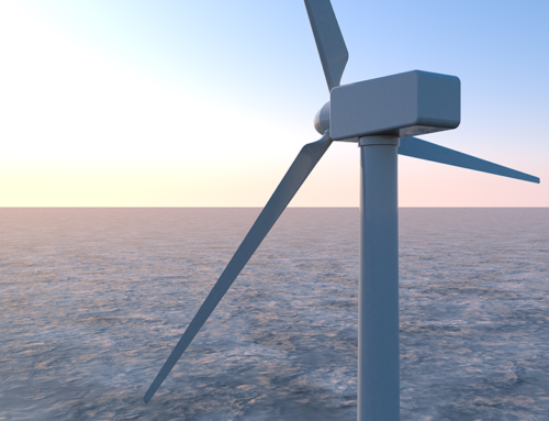 How many rotations of a wind turbine* can power the average UK home for a day?
